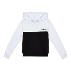 Pineapple - Girls' black and white hoodie