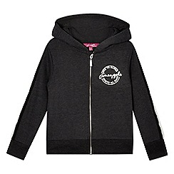 Pineapple - Girls' grey sequinned back motif hoodie