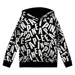 Pineapple - Girls' black logo print hoodie