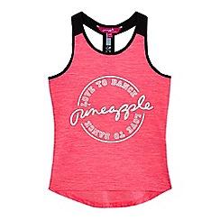 Pineapple - Girls' pink foil-effect logo print vest top