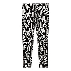 Pineapple - Girls' black foil logo print leggings