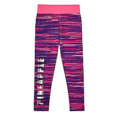 Pineapple - Girls' pink space dye leggings