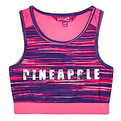 Pineapple - Girls' pink space dye print crop top