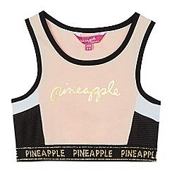 Pineapple - Girls' light pink logo sports bra