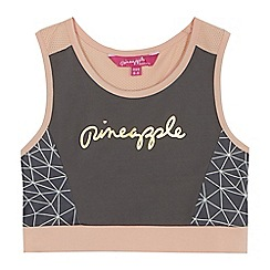 Pineapple - Girls' grey logo sports bra