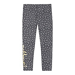 Pineapple - Girls' grey geometric print leggings
