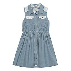 Mantaray - Girls' blue striped shirt dress