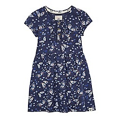 Mantaray - Girls' navy butterfly print dress