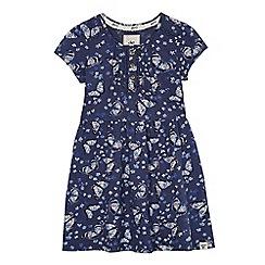 Mantaray - Girls' navy butterfly print dress