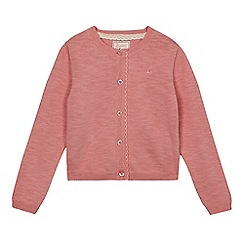 Mantaray - Girls' pink scalloped cardigan