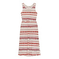Mantaray - Girls' multi-coloured striped print dress