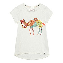 Mantaray - Girls' white camel applique t-shirt