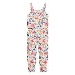Mantaray - Girls multi-coloured botanical print jumpsuit