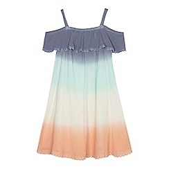Mantaray - Girls' multi-coloured dip dye cold shoulder dress