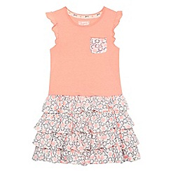 Mantaray - Girls' orange printed rara dress