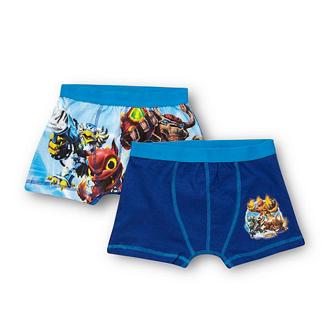 Skylanders - Boy+s pack of two blue +Skylander+ trunks