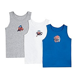 Spider-man - Pack of three boys' assorted 'Spider-Man' print vests