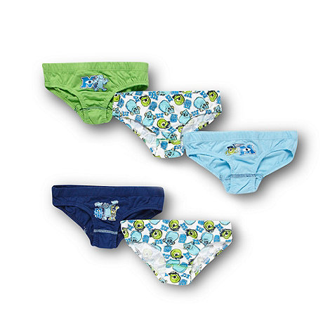 Monsters University - Boy+s pack of five blue +Monsters University+ briefs