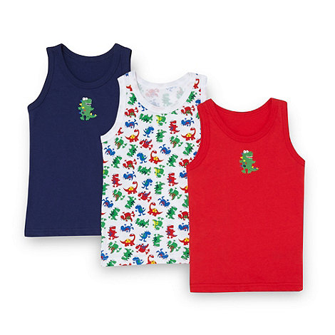 bluezoo - Boy+s set of three dinosaur vests