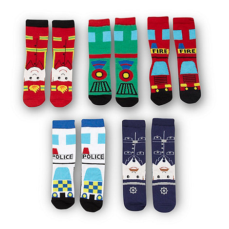 bluezoo - Boy+s pack of five novelty socks