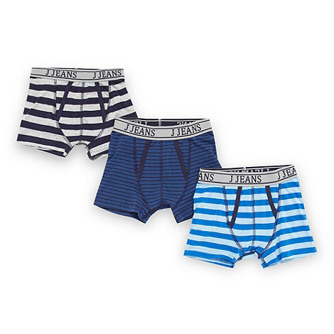 J by Jasper Conran - Designer boy+s pack of three navy striped trunks
