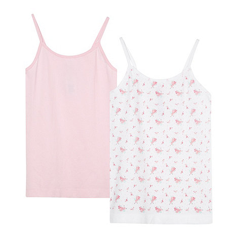 bluezoo - Pack of two girl+s pink seam free vests