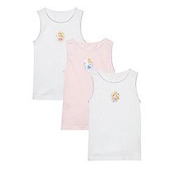 Disney Princess - Pack of three girl's white Disney Princess vests