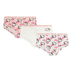 Hello Kitty - Pack of three girl's pink 'Hello Kitty' shorts