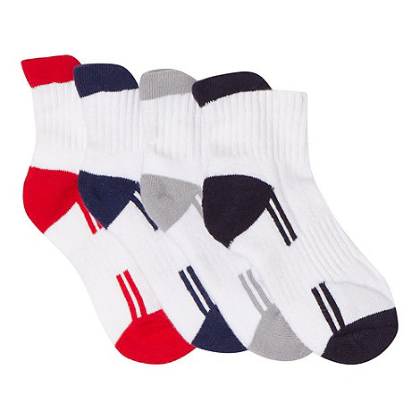 bluezoo - Pack of five boy+s white spots socks