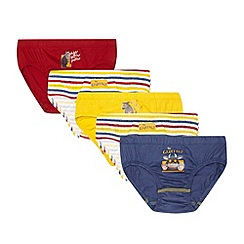 The Gruffalo - Pack of five boy's blue 'Gruffalo' briefs