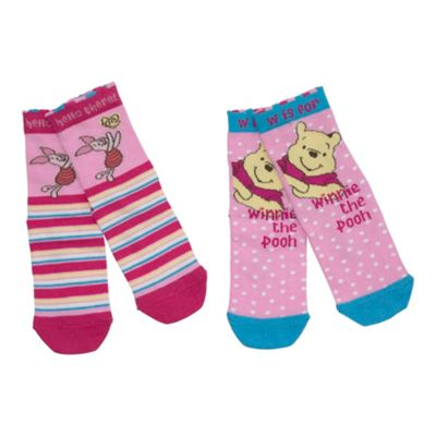 Character Pack of two Winnie the Pooh socks