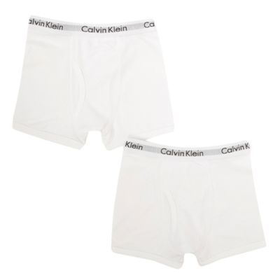 Boys Pack Of Two White Boxer Briefs