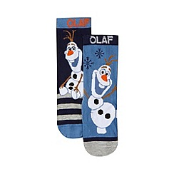 Disney Frozen - Pack of two boy's blue 'Frozen' socks