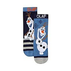 Disney Frozen - Pack of two boy's blue 'Frozen' socks