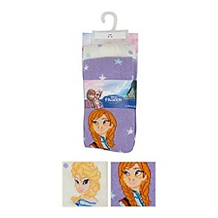 Disney Frozen - Pack of two girl's lilac 'Frozen' tights