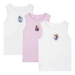 Disney Frozen - Pack of three girl's 'Frozen' vests