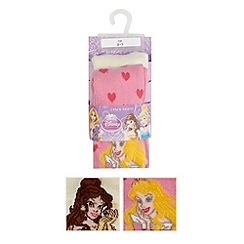 Disney - Pack of two girl's pink Disney Princess tights