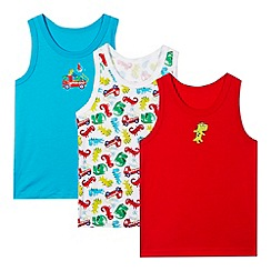 bluezoo - Pack of three boy's dinosaur vests