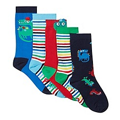 bluezoo - Pack of five blue dinosaur socks