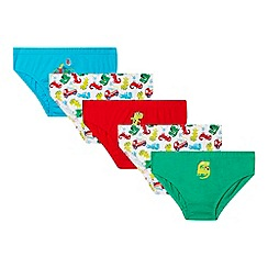 bluezoo - Pack of five boy's dinosaur briefs