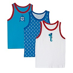 bluezoo - Pack of three boy's red and blue pirate themed vests