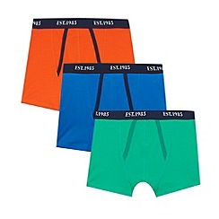 bluezoo - Pack of three boy's navy colour block trunks