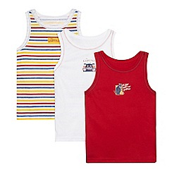 The Gruffalo - Pack of three boy's striped vests