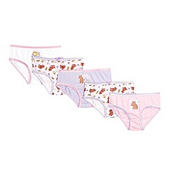 The Gruffalo - Pack of five girl's pink 'Gruffalo' briefs