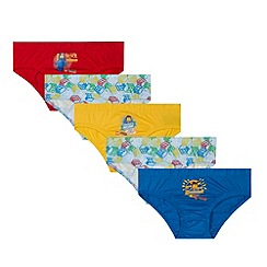 LEGO - Pack of five boy's yellow, red and blue Lego printed briefs