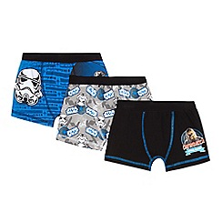 Star Wars - Pack of three boy's blue 'Star Wars' trunks