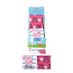 Peppa Pig - Pack of two girl's pink Peppa Pig daisy tights