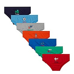 bluezoo - Pack of seven boy's coloured days of the week briefs
