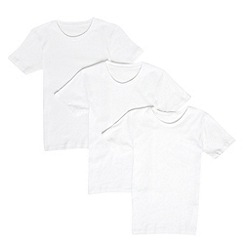bluezoo - Boy's pack of three white short sleeve vests