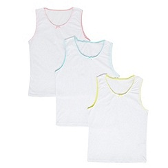 bluezoo - Girl's pack of three white vests